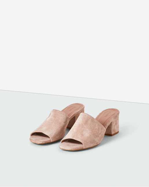 Loreen Suede Mule Rose