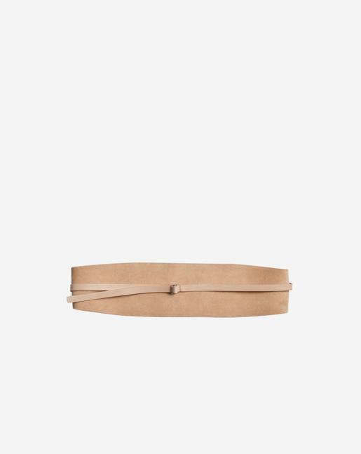 Wide Leather Belt Natural