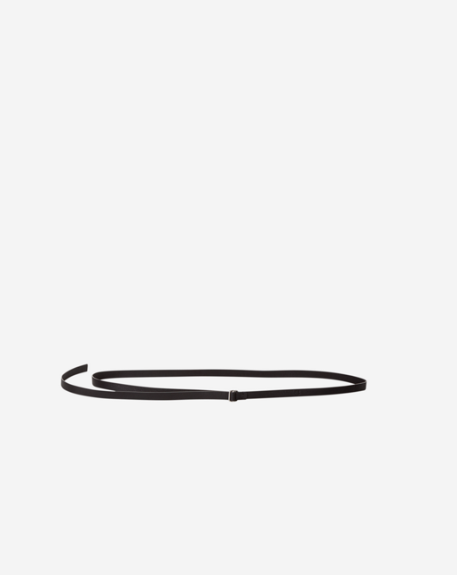 Thin D-ring Belt Black