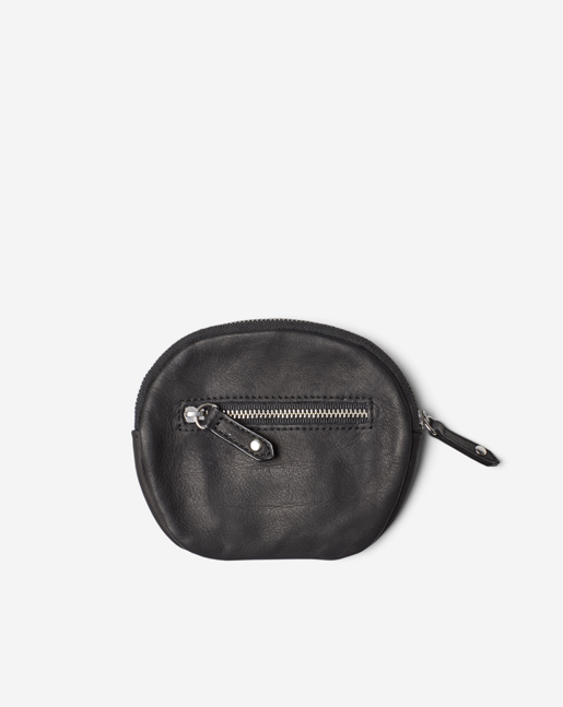 Mini Leather Purse Black