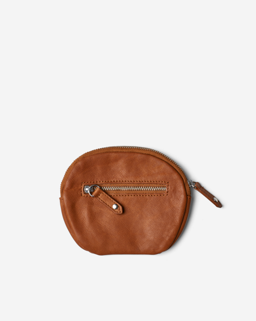 Mini Leather Purse Camel