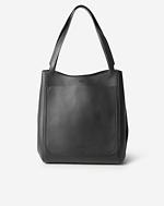 Shelby Bucket Leather Bag Black