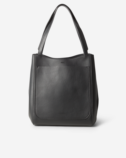 Shelby Bucket Leather Bag Black