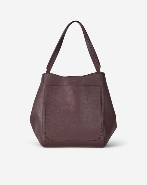 Shelby Bucket Leather Bag Bordeaux