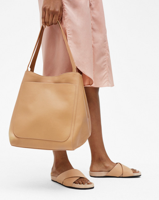 Shelby Bucket Leather Bag Natural Nappa