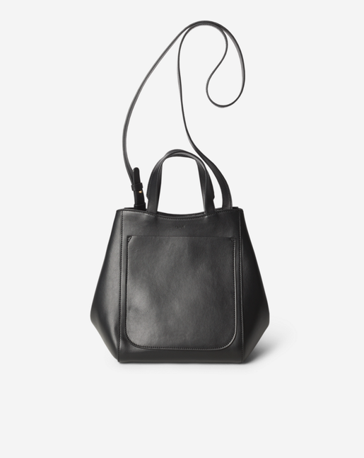 Shelby Mini Bucket Leather Bag Black