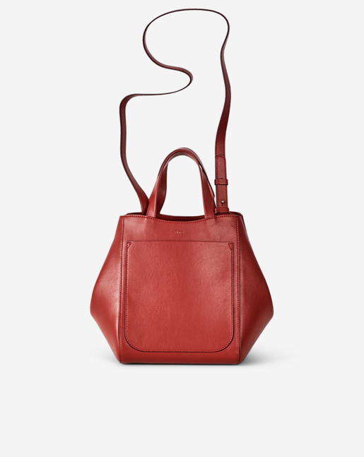 Shelby Mini Bucket Leather Bag Brick