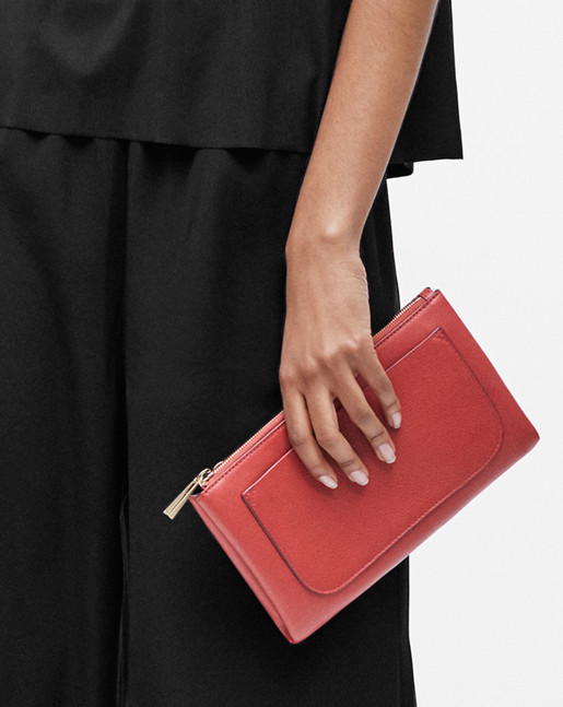 Carol Leather Mini Bag Brick