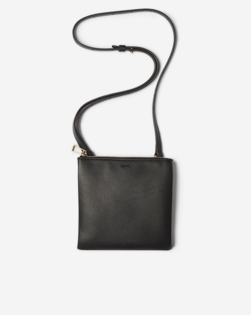 Marly Utility Leather Bag Black