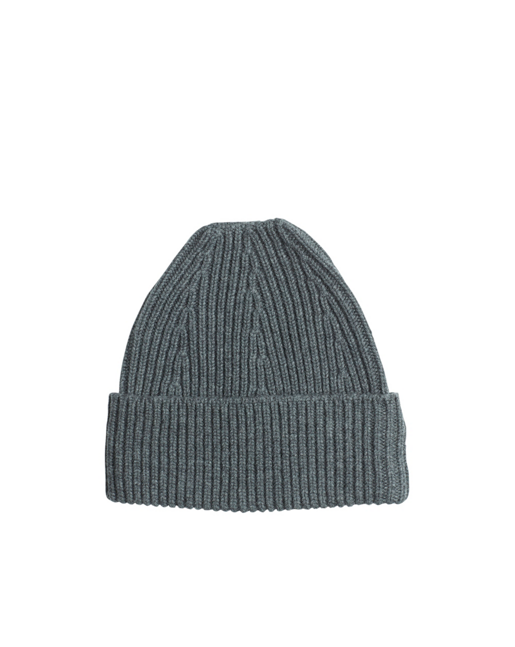 Ribbed Wool Cashmere Hat Antracite