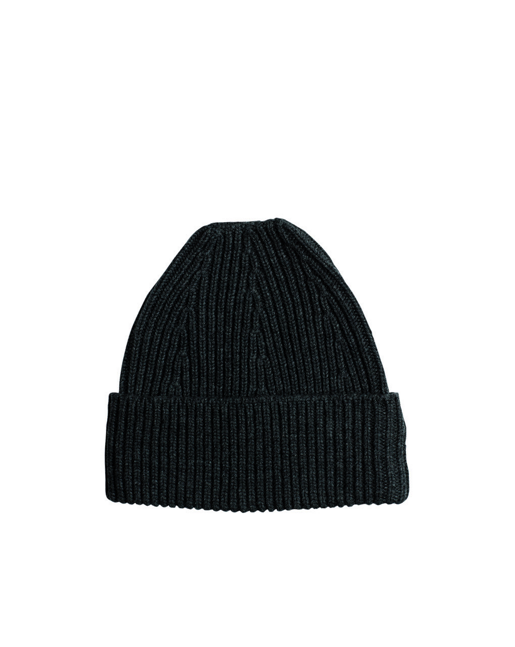 Ribbed Wool Cashmere Hat Black