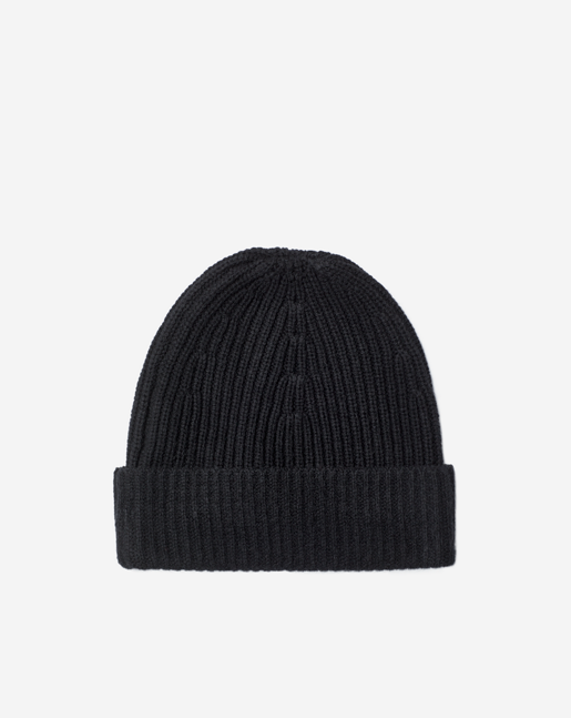 Rib Knit Hat Black