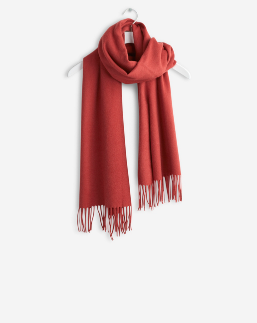Cashmere Blend Scarf Red Rust