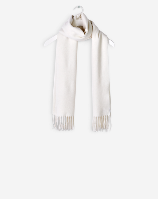 Cashmere Blend Scarf Off White