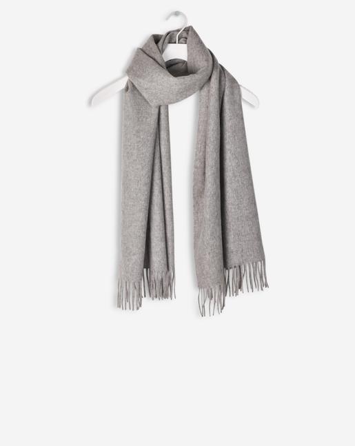 Cashmere Blend Scarf Light Grey