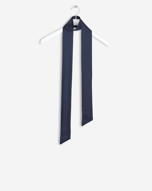 Silk Tie Scarf Bright Navy