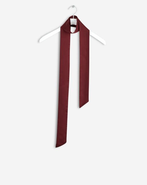 Silk Tie Scarf Mulberry