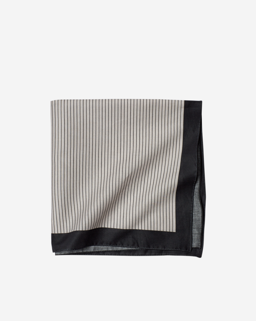 Cotton Neckerchief Moon/Black