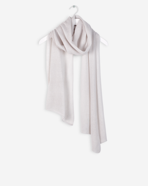 Light Cashmere Scarf Chalk