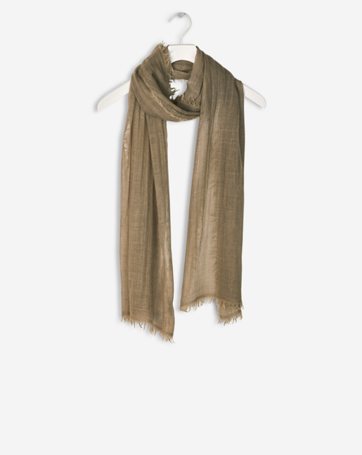 Cold dyed Wool Scarf Khaki Green
