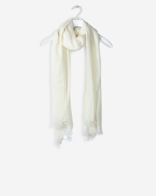 Spring Wool Scarf Cream