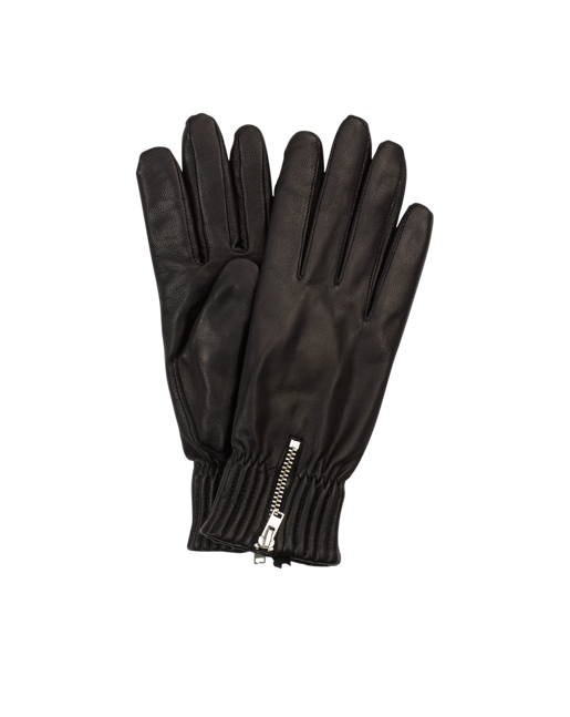 Quilted Elastic Glove Black