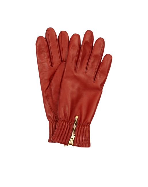 Quilted Elastic Glove Red Rust