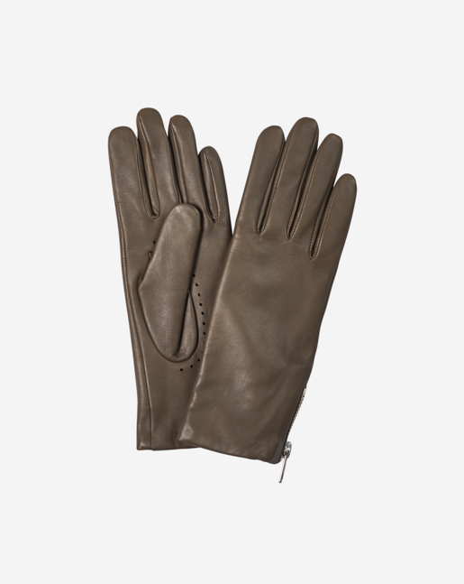 Zip Glove Khaki Green