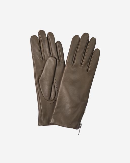 Zip Glove Khaki Green