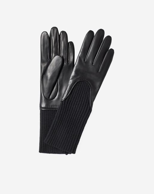 Wool Rib Glove Black