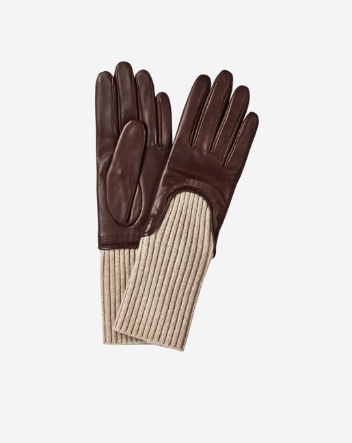 Wool Rib Glove Bordeaux