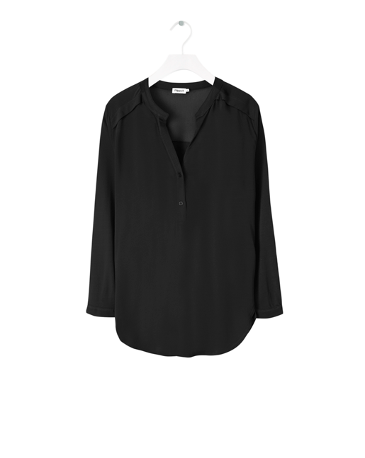 Crepe Blouse Top Black