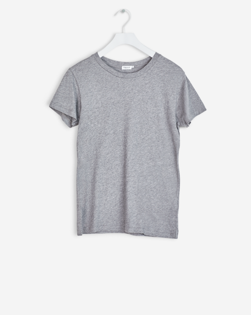 Cotton Tee Grey Melange