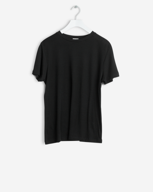 Slim Merino Tee Black