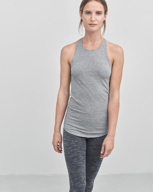 Athletic Cotton Tank Grey