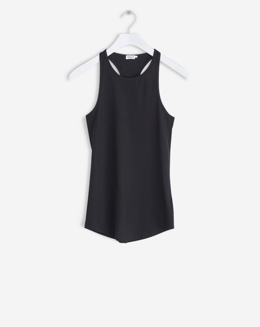 Athletic Cotton Tank Black