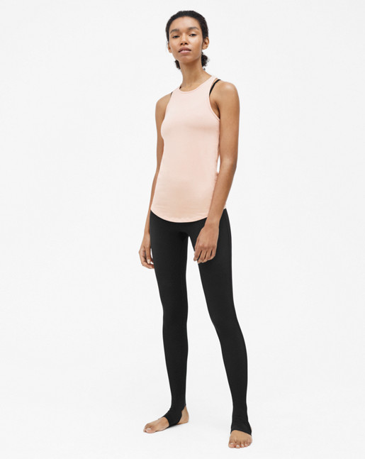 Athletic Cotton Tank Pale Pink