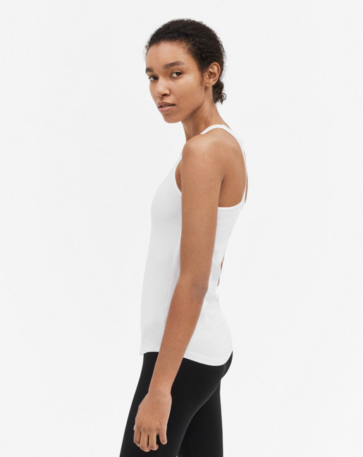 Athletic Cotton Tank White