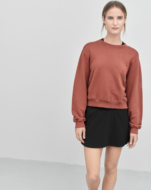 Cropped Sweat Top Rosewood