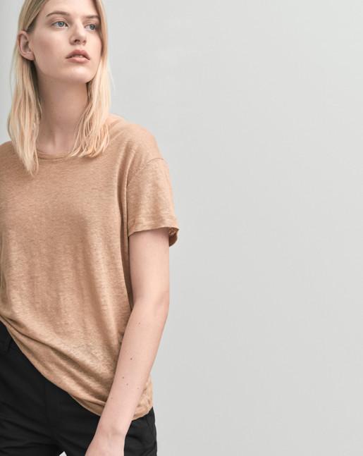 Linen T-shirt Almondine