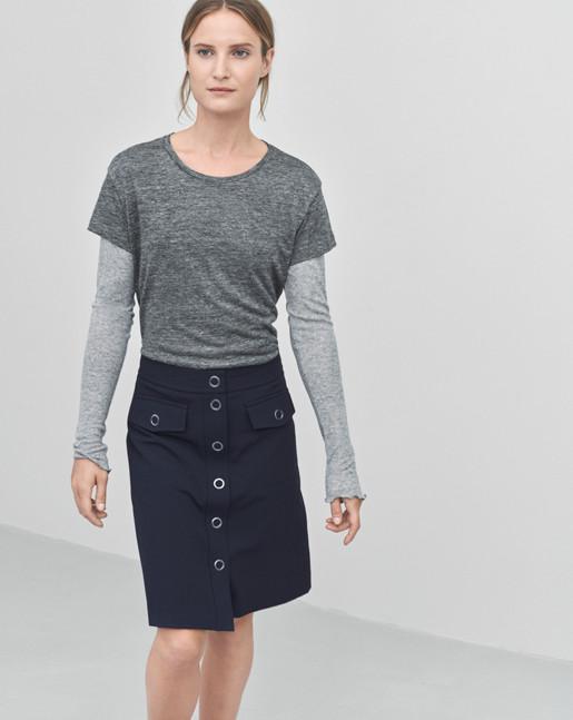 Linen T-shirt Antracite