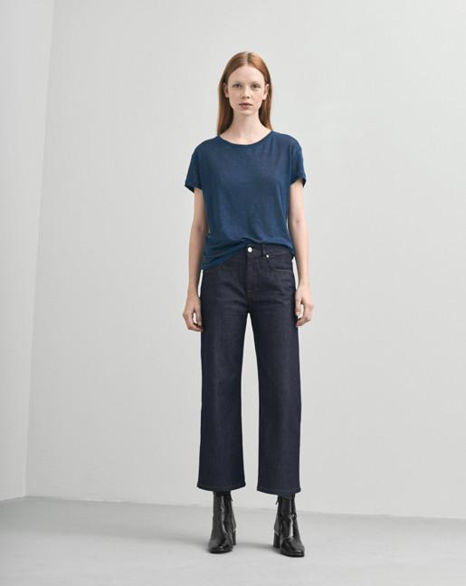 Linen T-shirt Grape