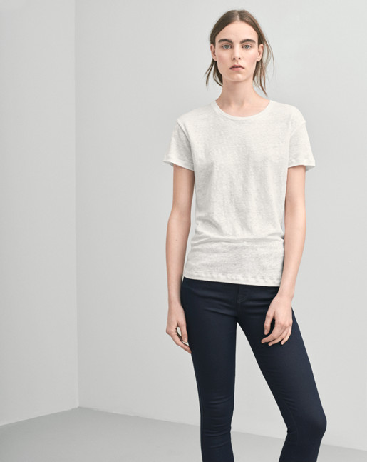 Linen T-shirt Offwhite