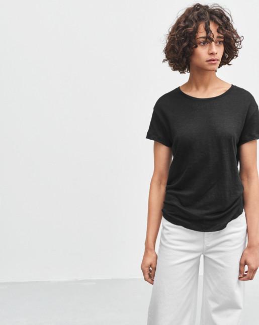 Linen T-shirt Black