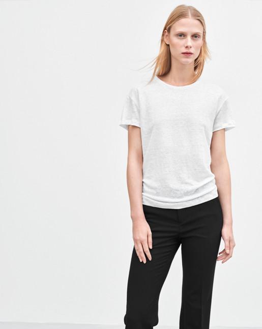 Linen T-shirt White
