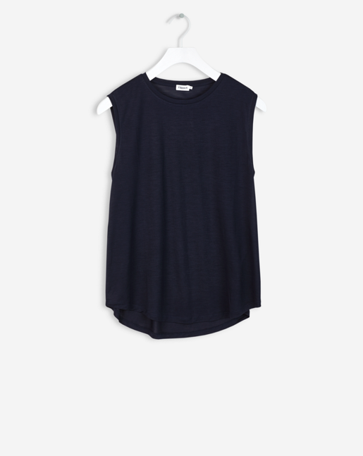 Crew Neck Swing Tank Navy