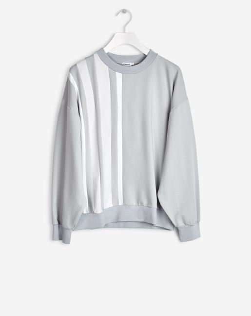 Stripe Sweatshirt Moon