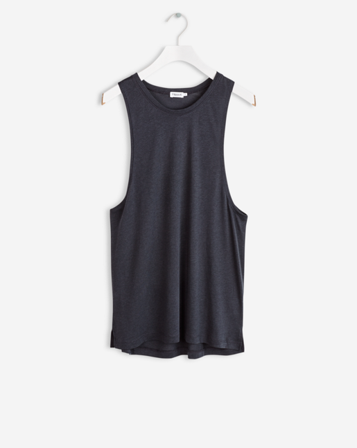 Loose Gym Tank Blue Graphite