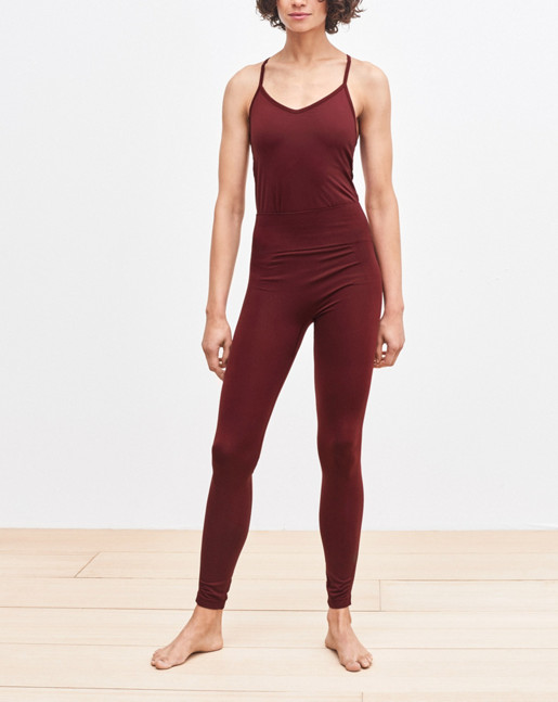 Crossback Yoga Top Mulberry