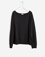 Boatneck Sweatshirt Black